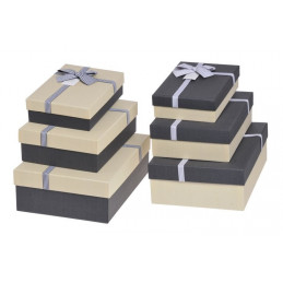 Pudełka 3szt-kpl BLACK/CREAM, CREAM/BLACK