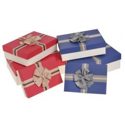 Pudełka 3szt-kpl RED/CREAM, BLUE/CREAM