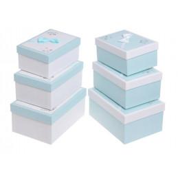 Pudełka 3szt-kpl BLUE/WHITE , WHITE/BLUE