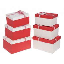 Pudełka 3szt-kpl CREAM/RED, RED/CREAM