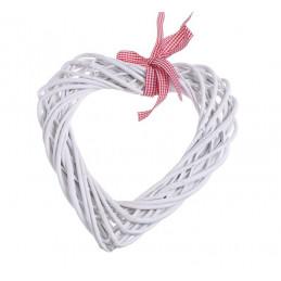 Serce z wikliny 30 x 30 cm WHITE/GREY - zawieszka