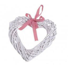 Serce z wikliny 25 x 25 cm WHITE/GREY - zawieszka