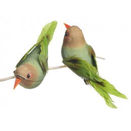 Ptaszek 13cm na klipie 6szt 2 KOLORY