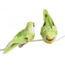 Ptaszek 12cm na klipie 6szt 2 KOLORY