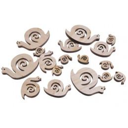 Ślimaki naturalne mix 8,5-6 cm, 18szt-paczka
