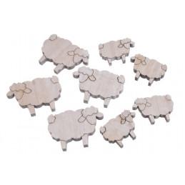 Baranki biało-szare mix 7-5 cm, 8 szt-paczka