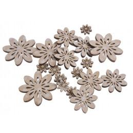 Kwiatki beżowe mix 7-5 cm, 18 szt-paczka