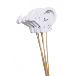 Pik konewka biała 38-9 cm, 6 szt-paczka