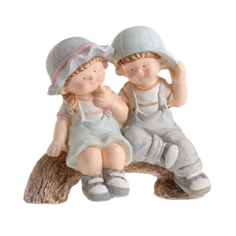 Dzieci na gałęzi 38 cm - wyrób ceramiczny