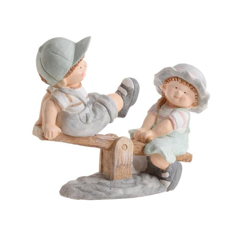 Dzieci na huśtawce 50 cm - wyrób ceramiczny