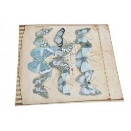 Motyl na klipie 6-10 cm, 9 szt/kpl LT BLUE