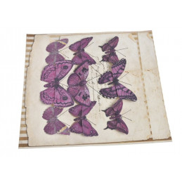 Motyl na klipie 6-10 cm, 9 szt/kpl DK PURPLE
