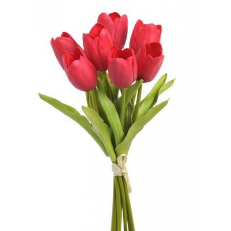 Tulipan z pianki x 7 28 cm - MIIX