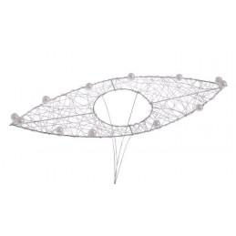 Kryza liść z perłami 28 cm