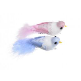 Ptaszek 10 cm na klipie 2szt/kpl