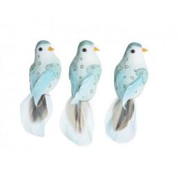 Ptaszek 12,5 cm na klipie 3szt/kpl