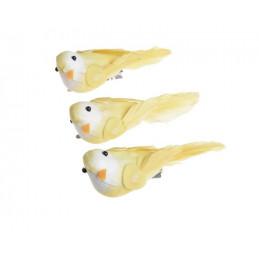 Ptaszek 10 cm na klipie 3 szt-kpl