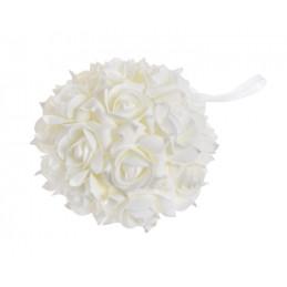 Półkula z róż piankowych -zawieszka 20 cm