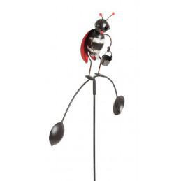Metalowy robaczek H87cm, W27cm - dekoracja ogrodowa