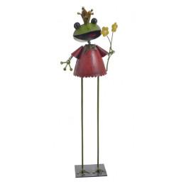 Metalowa żabka H37cm - dekoracja ogrodowa