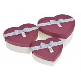 Pudełko serce 3szt-kpl