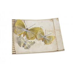 Motyl na klipie 8,5-5,5 cm, 3szt/paczka YELLOW
