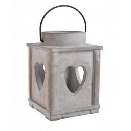 Lampion z sercem 12x12xH17 cm