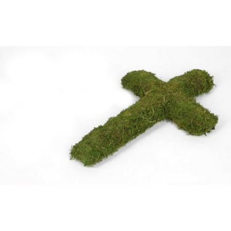 Krzyż z mchu H42-W28 cm