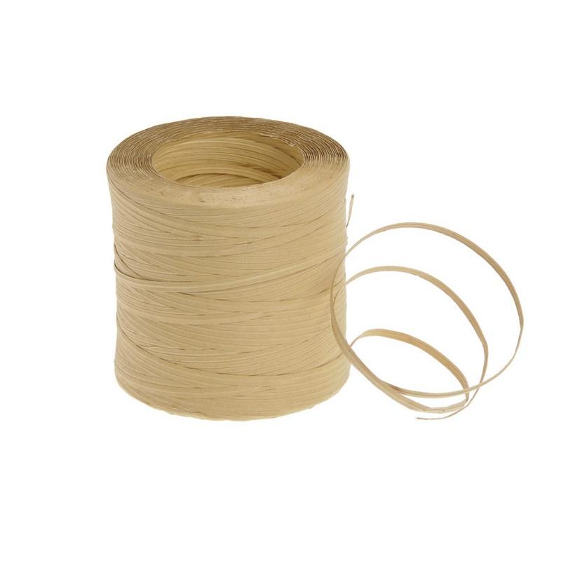Sznurek papierowy z drucikiem naturalny 250 m