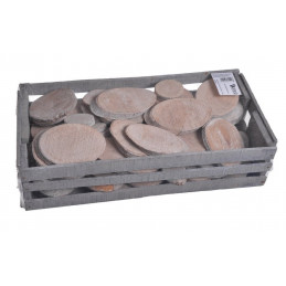 Wooden Slice Mixed frosted x2 kg  -plastry drewniane