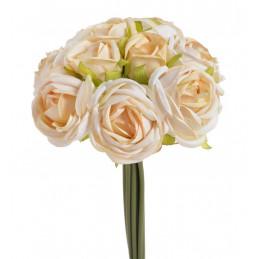 Bukiet róż 7+3, 27 cm - sztuczny kwiat