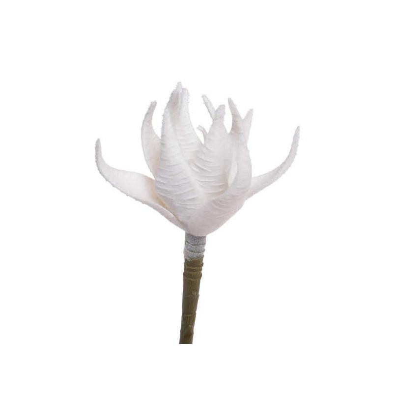 Sukulent x1, 16 cm WHITE SNOW  - sztuczna roślina