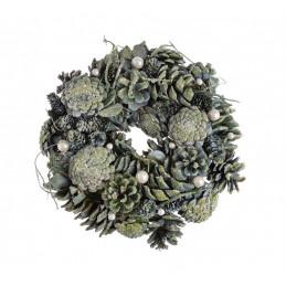 Wianek szyszki 26 cm GREEN - artykuł dekoracyjny
