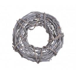 Wianek 35 cm - element dekoracyjny WHITE WASHED