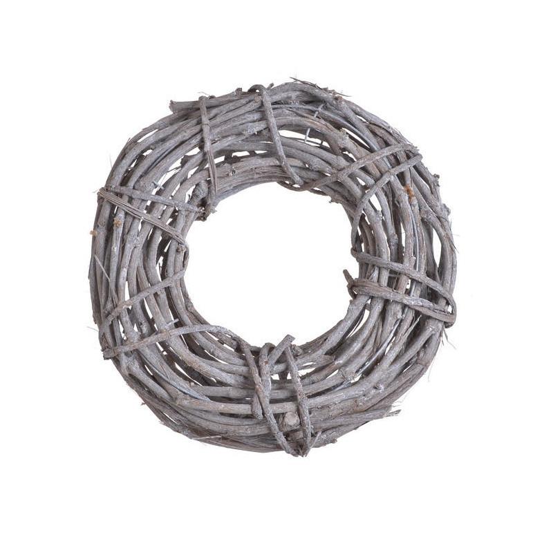 Wianek 40 cm - element dekoracyjny WHITE WASHED