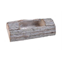 Osłonka z kory 40x19x9 cm - element dekoracyjny WHITE WASHED