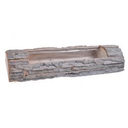 Osłonka z kory 60x19x9,5cm - element dekoracyjny WHITE WASHED