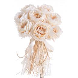 Bukiet róż koronkowych x 8/wiązka 40 cm