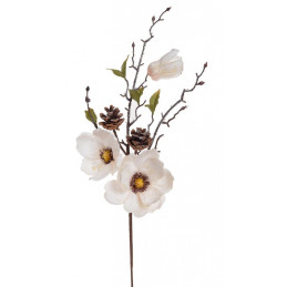 Gałązka magnolii brokacona..68 cm