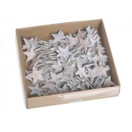 Drewniane gwiazdki wyb. washed 2,5 cm 150szt/paczka