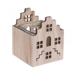 Domek drewniany lampon 19 cm H