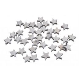 Gwiazdki biało-szare 2,5 cm, paczka/36sztuk