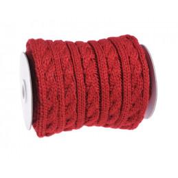 Rolka wełny dziergana na drutach we wzorek  2 m - szal