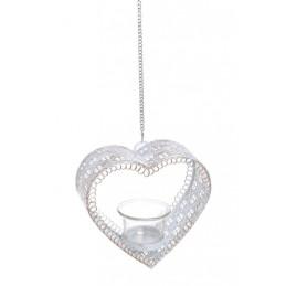 Świecznik serce..14,5x15x6 cm