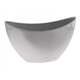 Donica dekoracyjna jak aluminiowa 24 cm