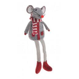 Mysz długie nogi..20 cm - zawieszka choinkowa