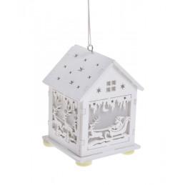 Domek-latarenka LED 7x7x10 cm - na adwent