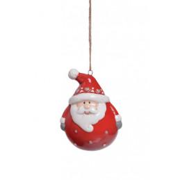 Mikołaj zawieszka 6 cm - ceramika