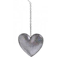 Serce metalowe 12 cm - zawieszka