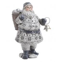 Figurka mikołaj z dzwoneczkiem / z prezentem ..16cm